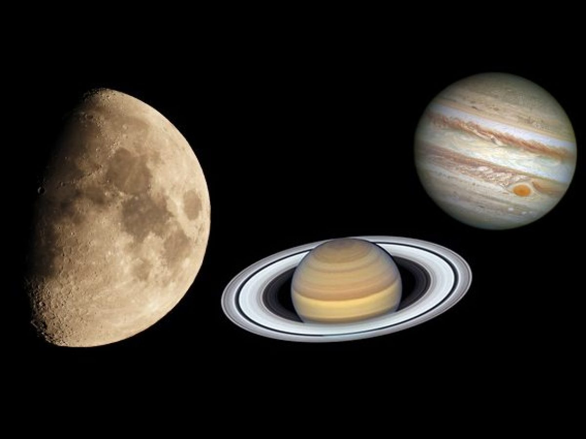Stasera la Luna danzerà con Saturno e Giove: come vedere il meraviglioso valzer tra giganti