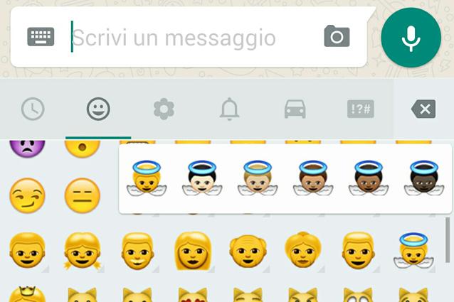 WhatsApp, nuovo aggiornamento per Android: ecco le emoji multiculturali