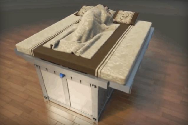 letto sarcofago terremoto