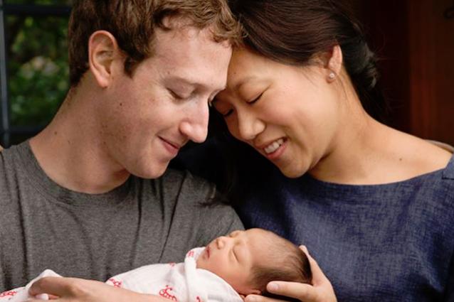 zuckerberg facebook figlia