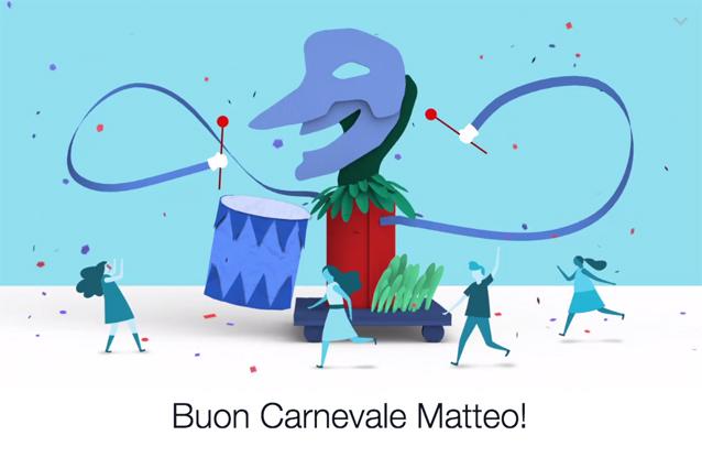 Facebook augura Buon Carnevale ai suoi utenti