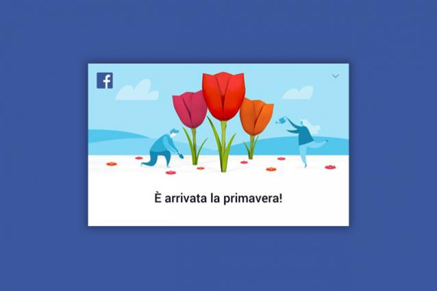 Facebook festeggia l'equinozio di primavera