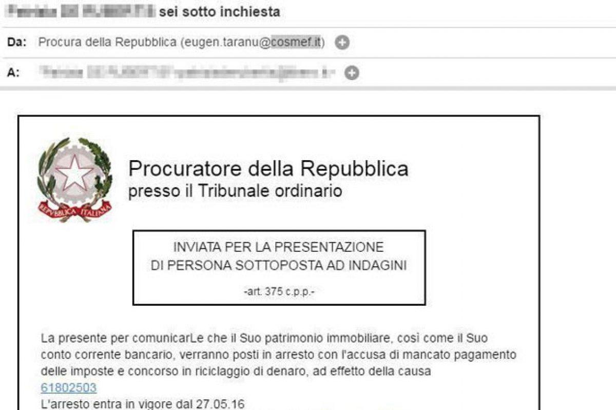 Phishing Attenzione Alla Finta Mail Della Procura Della Repubblica