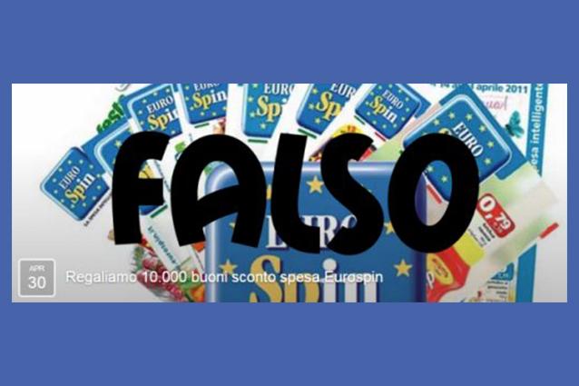 """Facebook, attenzione alla truffa: """"Regaliamo 10.000 buoni sconto Eurospin"""""""
