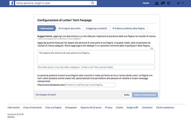 Come creare una pagina su Facebook: la configurazione