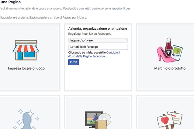 Come creare una pagina su Facebook e sceglierne la categoria