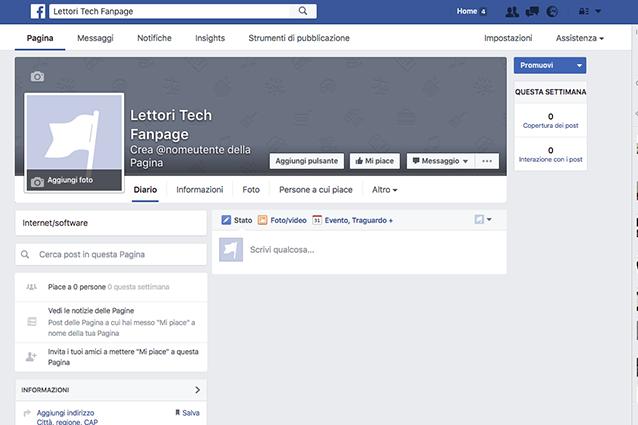Come creare una pagina su Facebook: la visualizzazione del diario