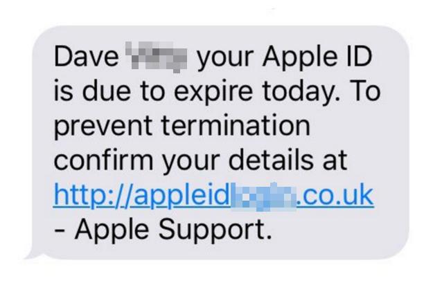 """""""Il tuo Apple ID scade oggi"""", attenzione al messaggio truffa"""