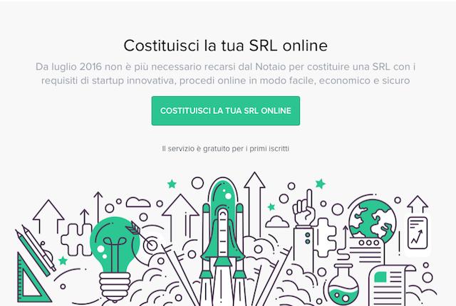 Con questo servizio puoi costituire una SRL sul web