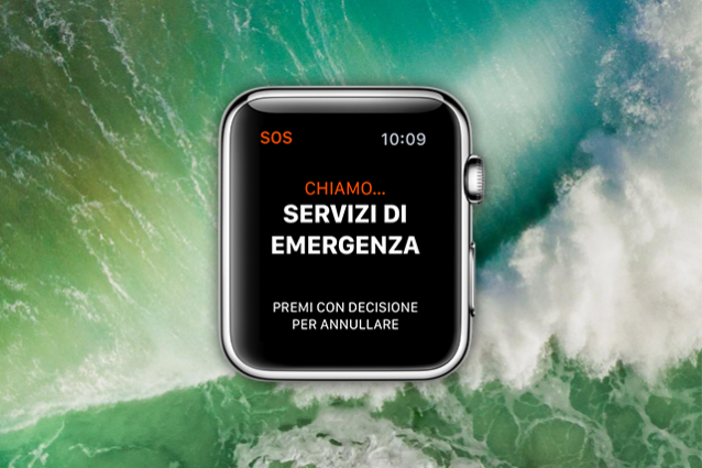 apple watch chiamate d'emergenza