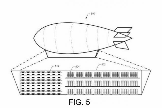Amazon vuole creare magazzini volanti