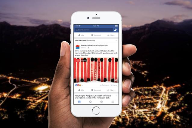 Facebook Live Audio, il nuovo strumento per trasmettere in diretta come una web radio