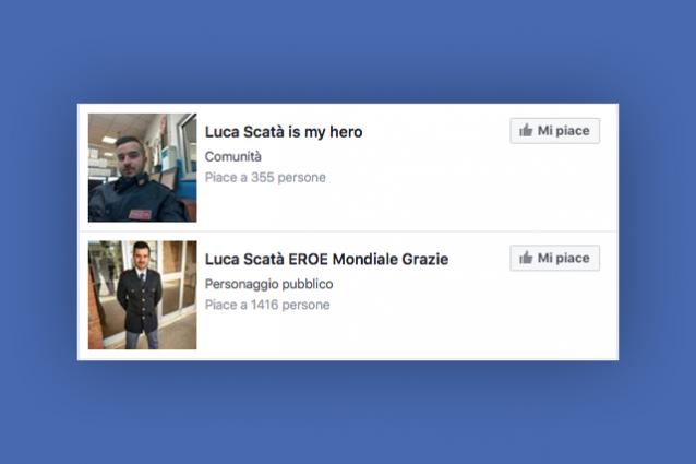 Luca Scatà, decine di pagine Facebook per l'agente che ha fermato il terrorista: molte sono spam