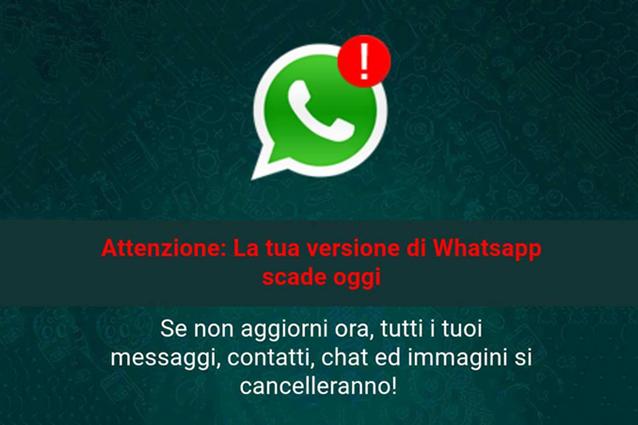 """WhatsApp, """"La tua versione scade oggi"""": ecco come difendersi dalla truffa"""