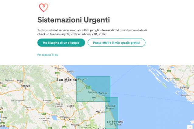 Terremoto, Airbnb attiva lo strumento per offrire ospitalità gratuita