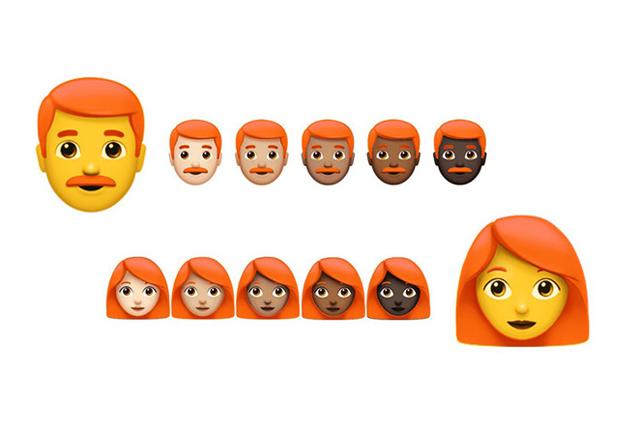 """Emoji, tra le prossime """"faccine"""" anche i personaggi con i capelli rossi"""