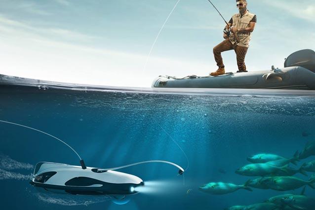 PowerRay, il drone subacqueo per gli amanti della pesca