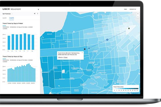 Uber Movement, il nuovo servizio per le amministrazioni locali per migliorare i servizi