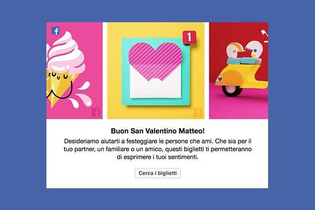 Facebook augura buon San Valentino agli utenti: ecco come inviare messaggi di auguri