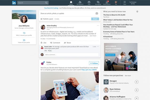 LinkedIn, disponibile anche in Italia la nuova interfaccia grafica