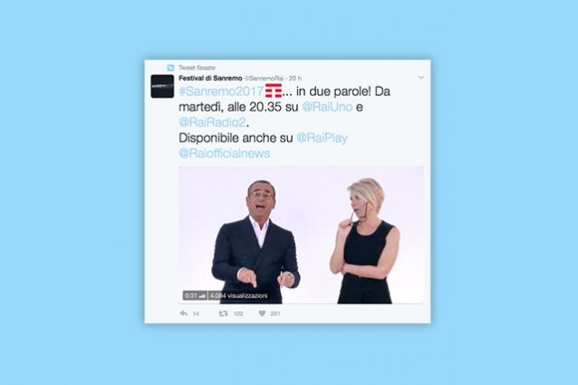 Sanremo, l'hashtag (sponsorizzato) su Twitter mostra il logo di Tim: è polemica