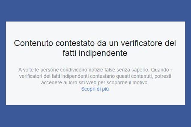 """Facebook inizia a segnalare le notizie false: ecco il """"bollino rosso"""" contro le bufale"""