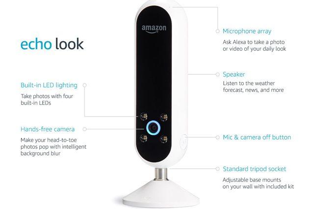Amazon svela Echo Look, la fotocamera che consiglia come vestirsi