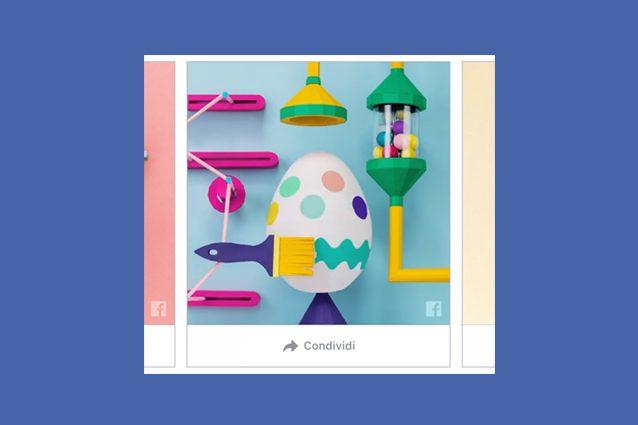 Facebook augura Buona Pasqua agli utenti