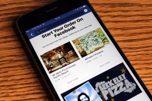Con Facebook pranzo social: cibo a domicilio (negli Usa) con Order food