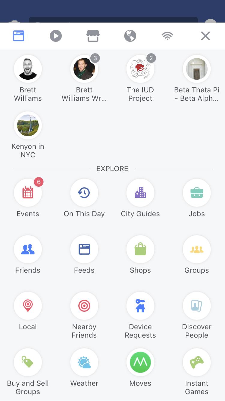 Facebook introduce una nuova barra di navigazione: ecco come funziona
