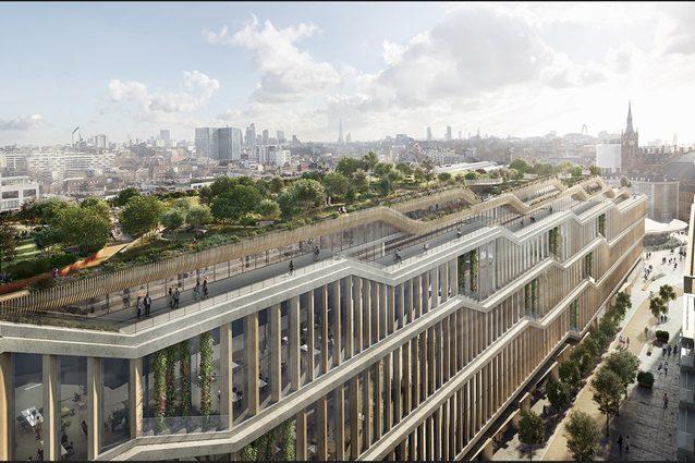 Building A, il nuovo quartier generale di Google a Londra con giardini sui tetti, palestre e piscine