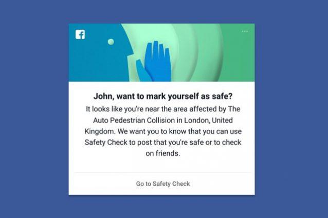 Attacco a Londra, il Safety Check di Facebook è attivo