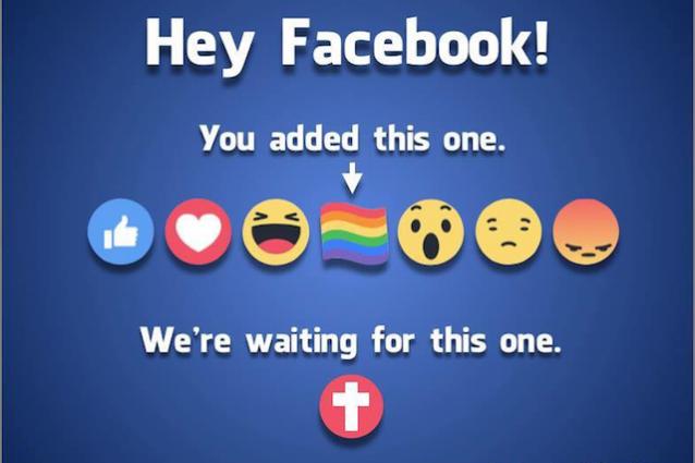 """I cristiani scrivono a Facebook: """"Vogliamo la croce tra le reazioni"""", ma il social dice no"""