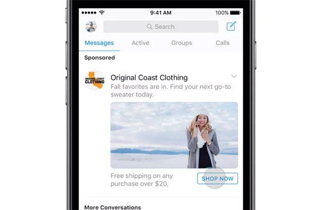 Facebook, in arrivo la pubblicità su Messenger