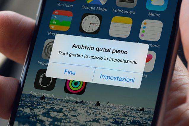Come liberare la memoria piena su iPhone