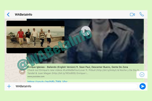 Su WhatsApp si potranno guardare i video in streaming di YouTube