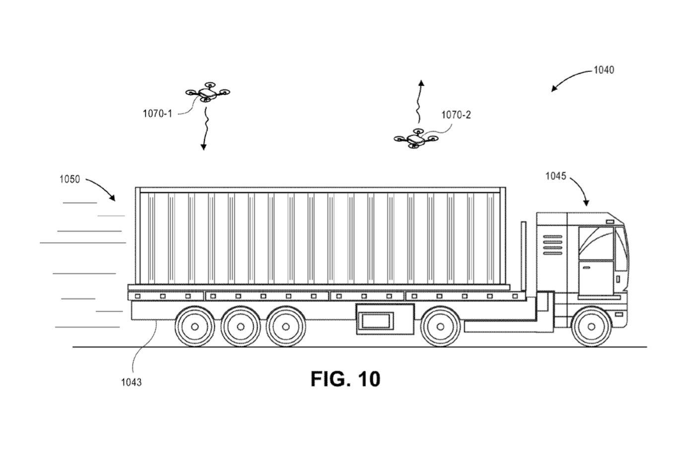 Amazon progetta basi mobili su treni, barche e autocarri per le consegne con droni