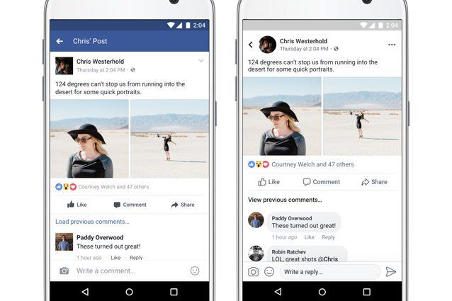 Facebook aggiorna l 39 app per smartphone android e ios tutte le novit - Cucina fanpage facebook ...