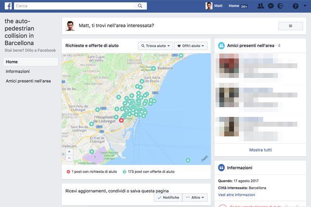 Attentato a Barcellona, il Safety Check di Facebook è attivo