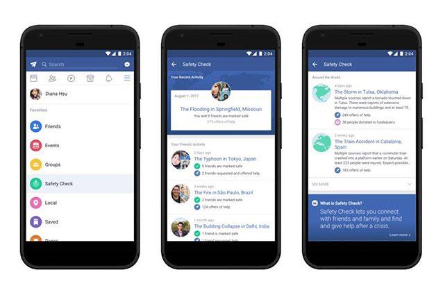 Facebook rende permanente il Safety Check per individuare subito le zone di crisi