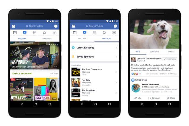 Facebook Watch, la nuova sezione per i video che sfida YouTube: ecco come funziona