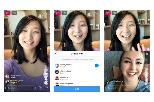 Instagram testa Live Video Sharing