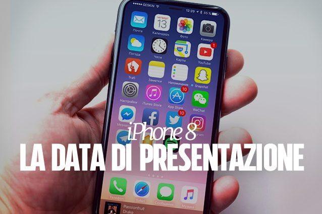 Apple, nuove indiscrezioni sulla data di presentazione dell'iPhone 8