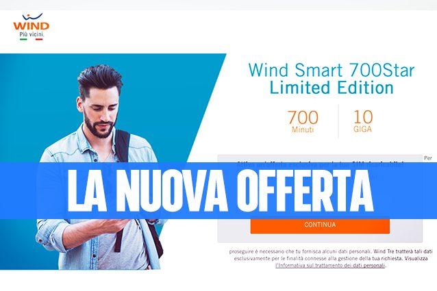 Wind Smart 700 Star, la nuova offerta con 700 minuti e 10GB di Internet a 10 euro ogni 4 settimane