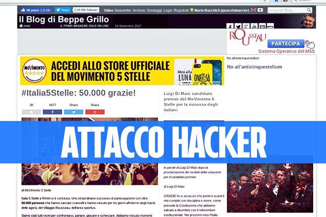 Hackerato il blog di Grillo: l'hacker R0gue_0 accede con l'utenza di Gianroberto Casaleggio
