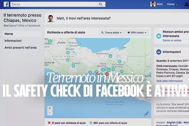 Terremoto in Messico, il Safety Check di Facebook è attivo