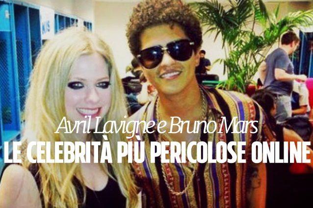Avril Lavigne è la celebrità più pericolosa online
