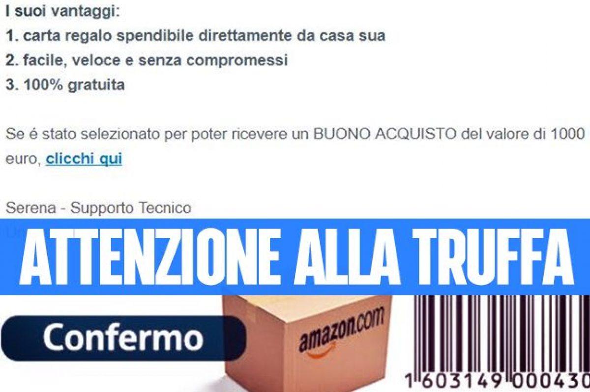 5facc1a977 Amazon, attenzione alla truffa del finto buono sconto da 1000 euro