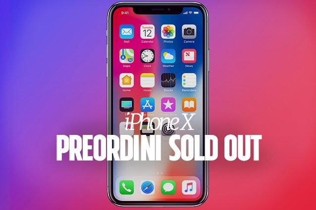 Apple, iPhone X: preordini sold out in pochi minuti