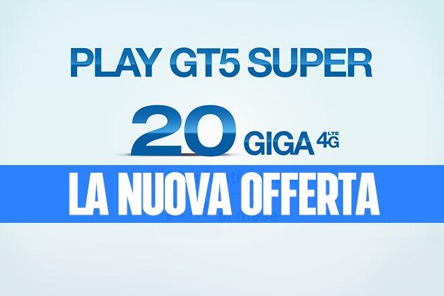 Tre Play GT5 Super, la nuova offerta con 20 GB e 1000 minuti a soli 5 euro